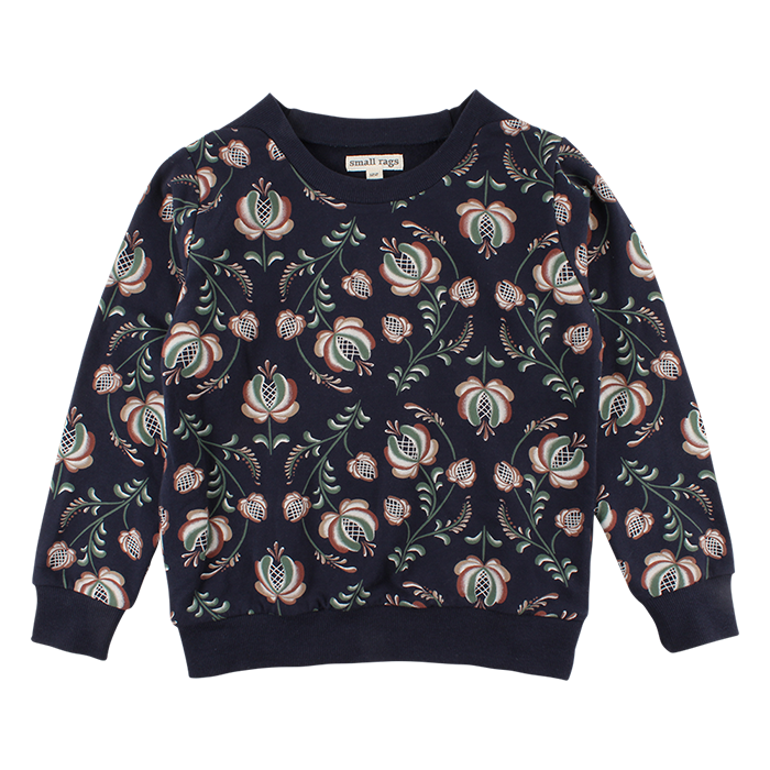 Sweater Bloemenprint - Marineblauw