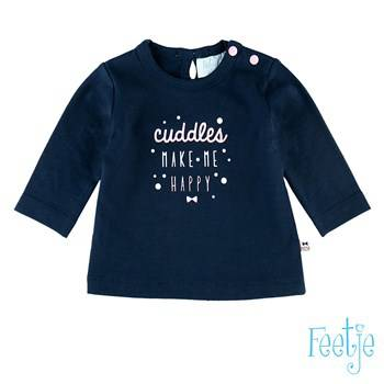 "T-shirt "" cuddles"" - Marineblauw"