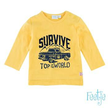 "T-shirt ""Survive"" - Okergeel"