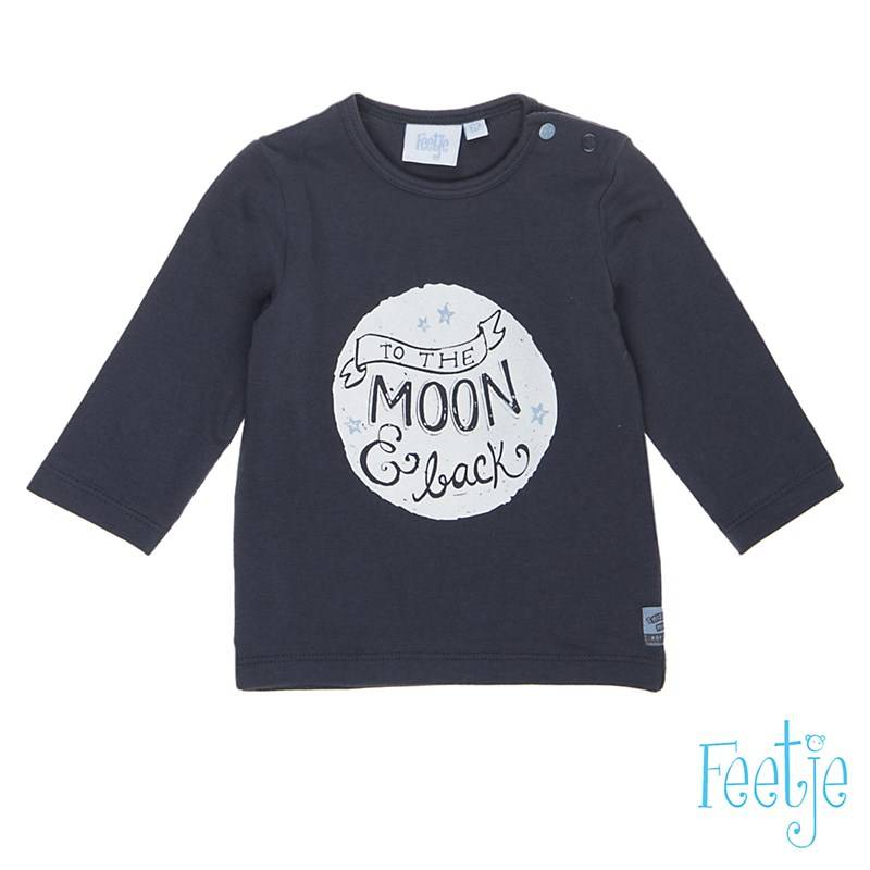 "T-shirt "" to the moon"" - Grijs - Feetje"