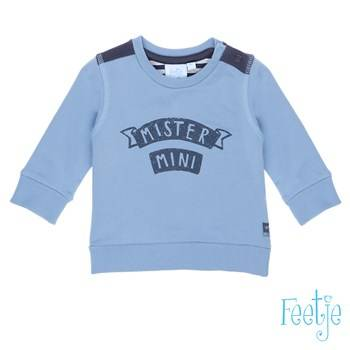 "Sweater ""mister mini"" - Blauw - Feetje"