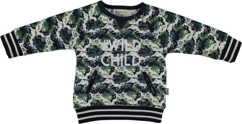 "Sweater "" Wild Child"" - Blauw"