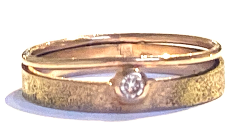 Ring roodgoud 14 kt