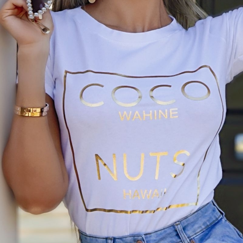 T-shirt Coco wit