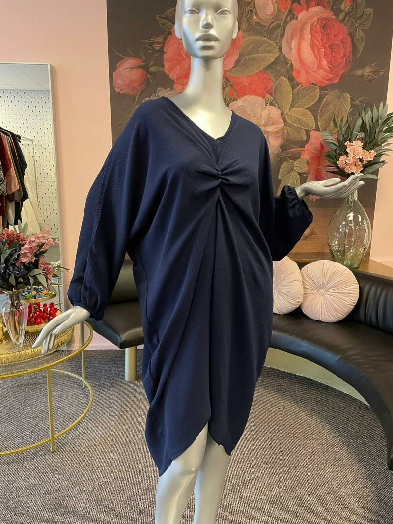 Jurk knotted navy