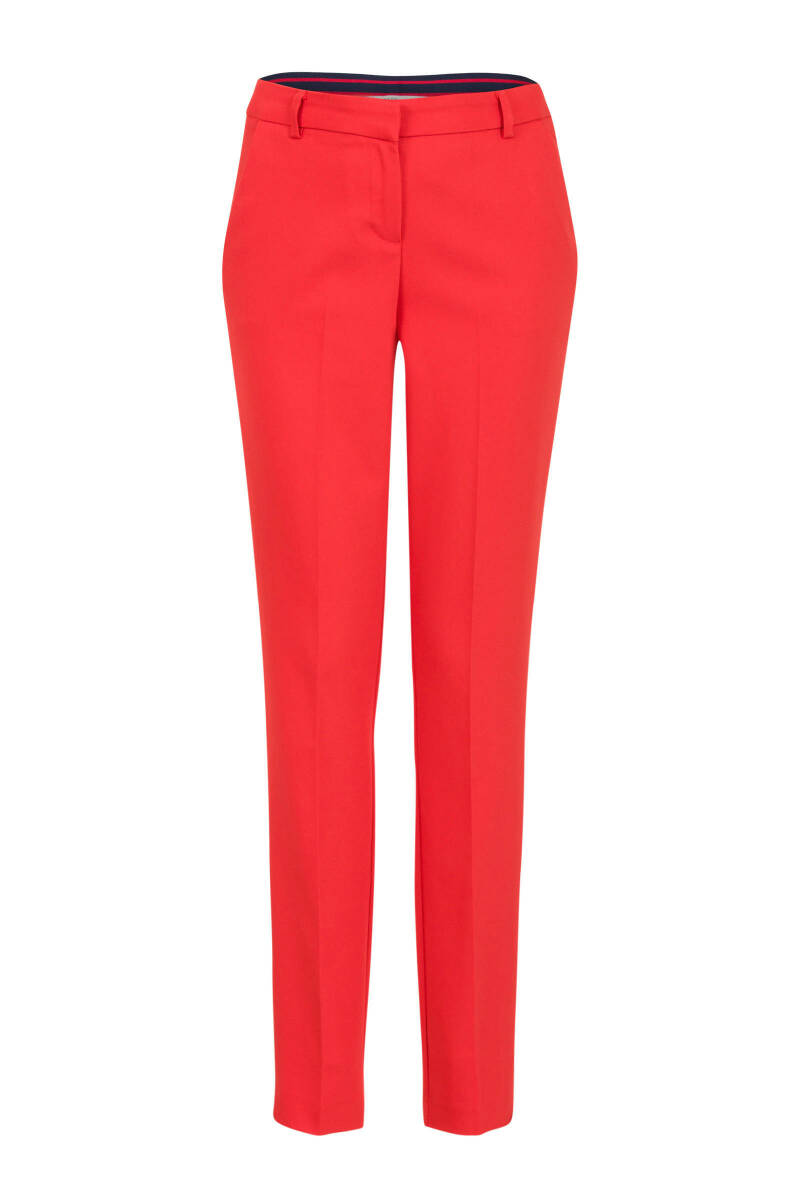 Steps pantalon rood satijn