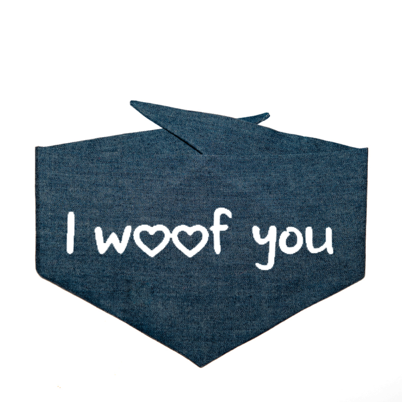 'I WOOF YOU' Dogbandit