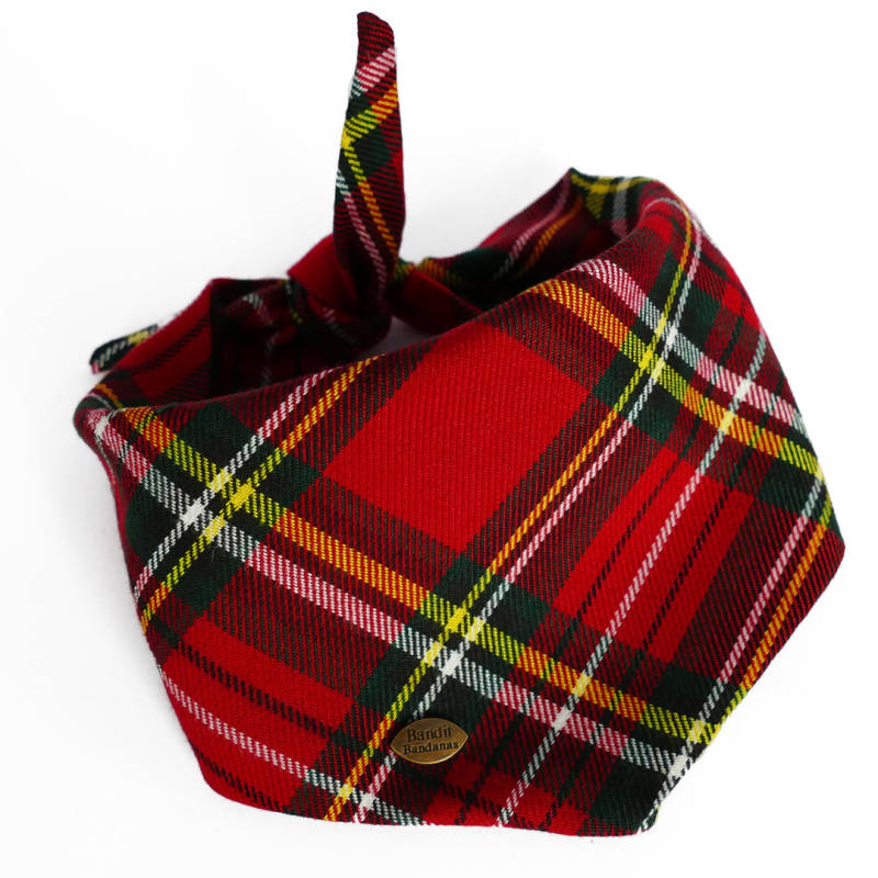 Dogbandana - SCOTTISH RED -