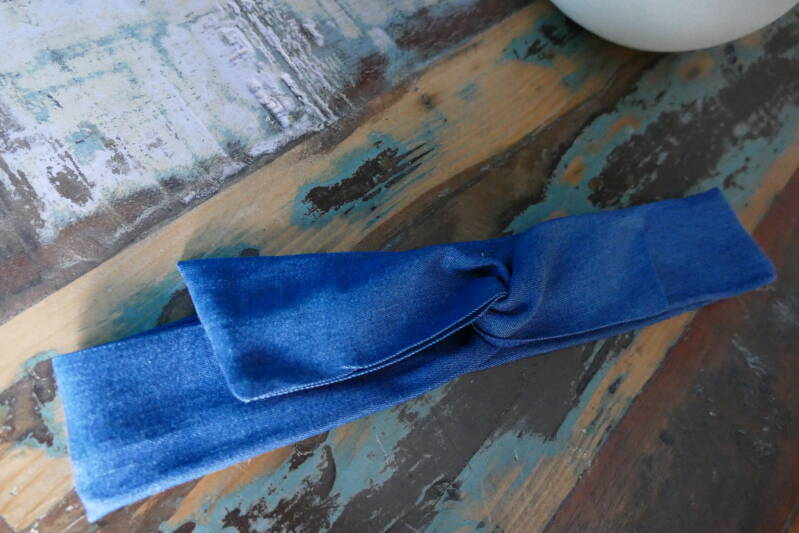 STOCKVERKOOP - Twistbandana Dark Denim