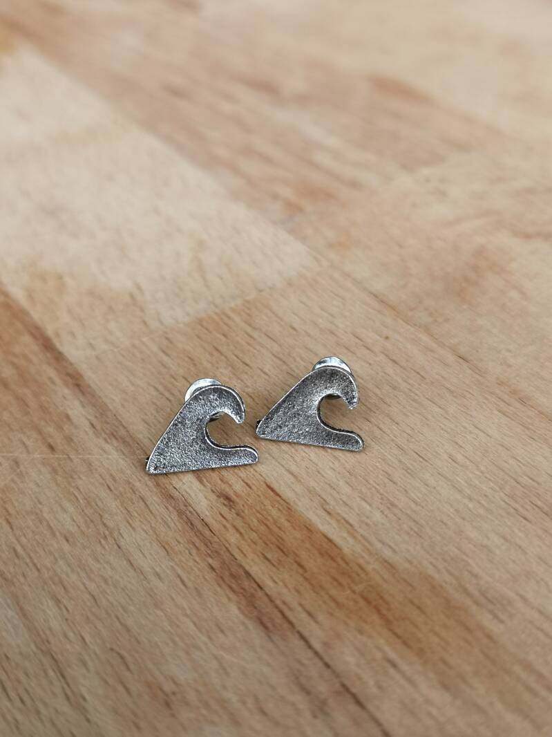 "Studs ""golven"" silver plated"