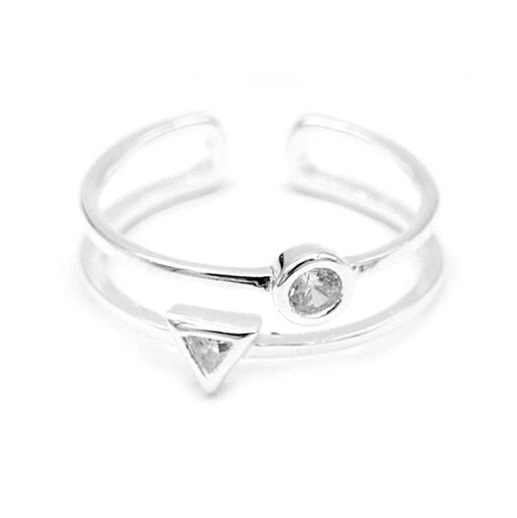 Ring Double - 925 sterling zilver