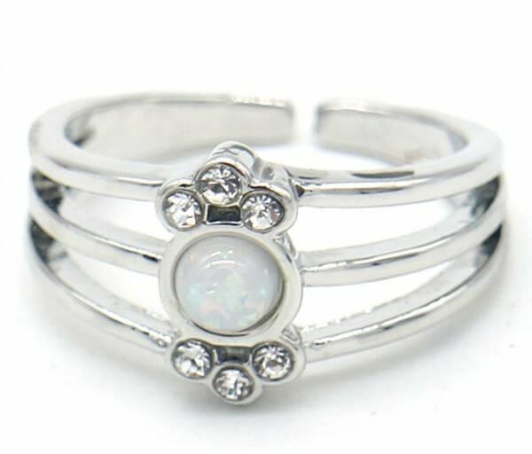 Ring Layer Cristal - zilver