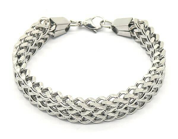 Armband Double V chain - zilver