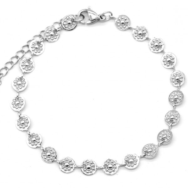 Armband Daisies - zilver