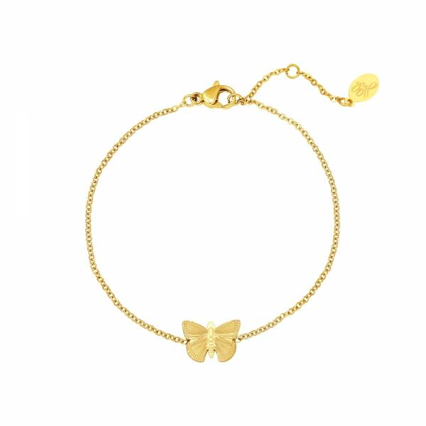 Armband Butterfly - goud