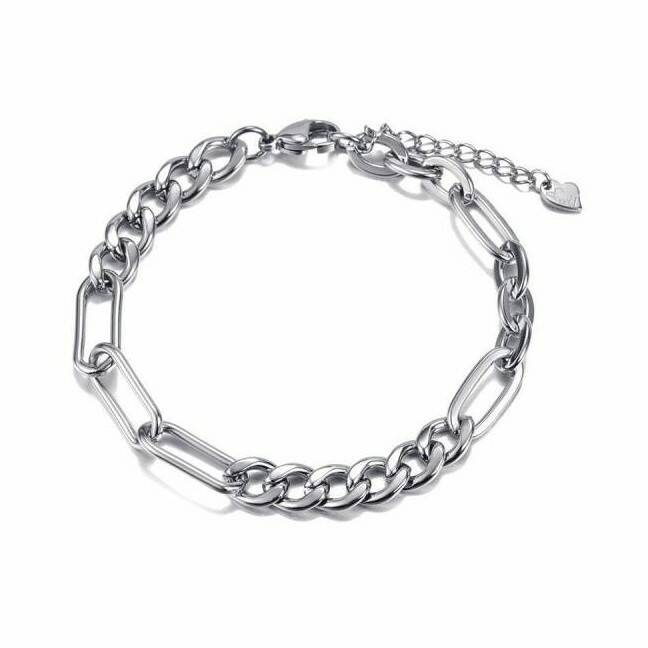 Armband Double chain - zilver