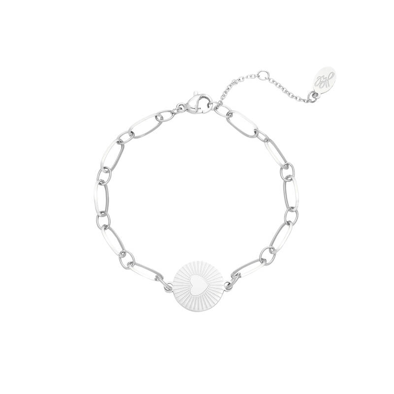 Armband In my heart - zilver