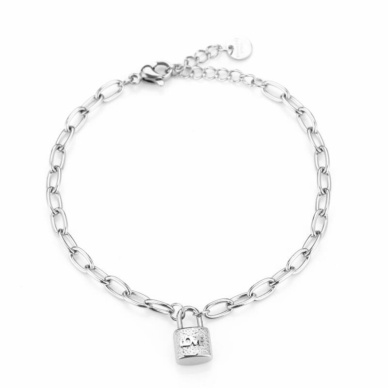 Armband Love lock - zilver