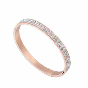 Bangle Strass 6 mm - rosé