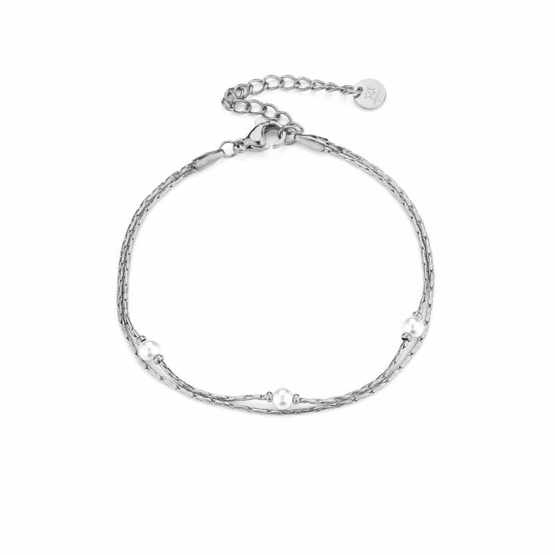 Armband  Pretty pearls - zilver