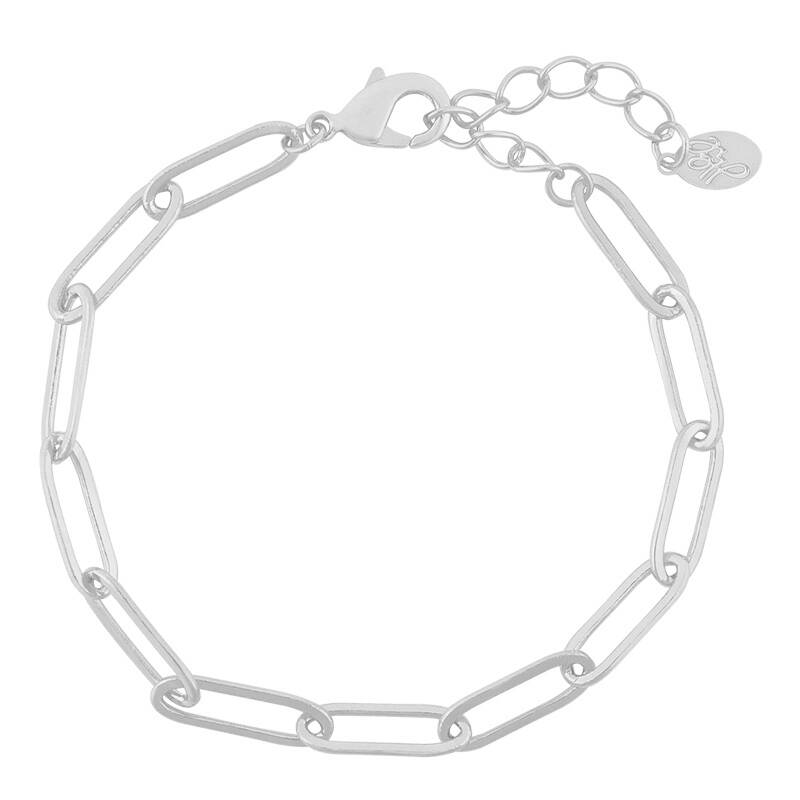 Armband Stuck in chain - zilver