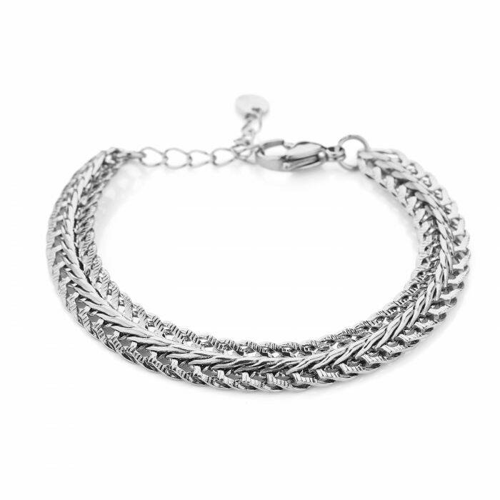 Armband Triple layer - zilver