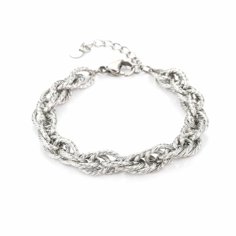 Armband Twisted chain - zilver