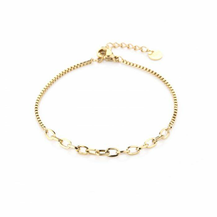 Armband Different chains - goud