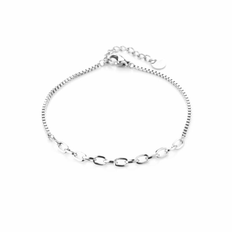 Armband Different chains - zilver