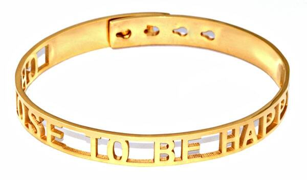 Armband Choose to be happy - goud