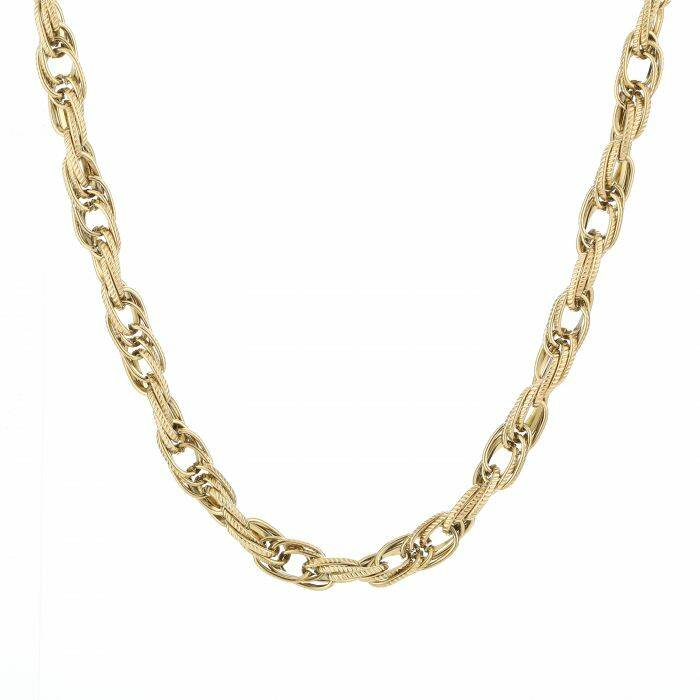 Ketting Twisted chain - goud