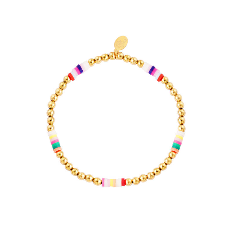 Armband Colored slices - goud