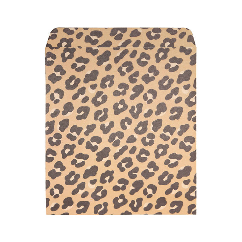 Medium gift bag leopard - kraft