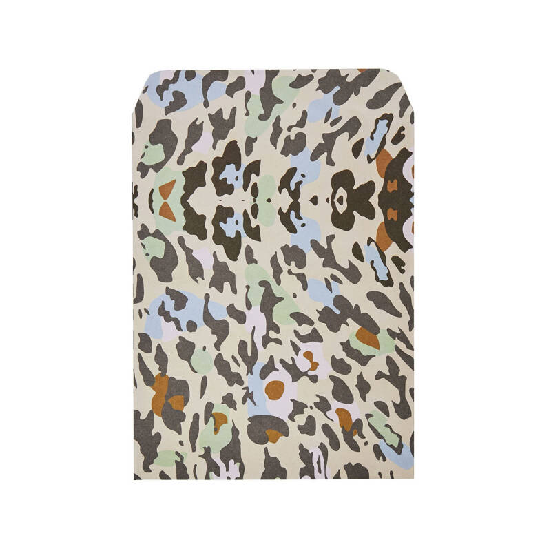 Small gift bag leopard - lichtroze