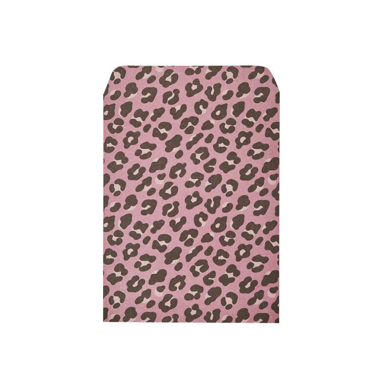 Small gift bag leopard - roze