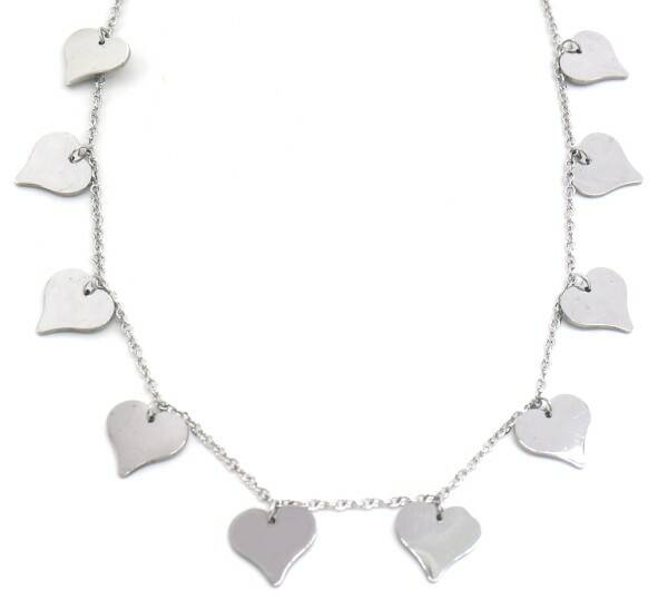 Ketting Hearts 12 mm - zilver