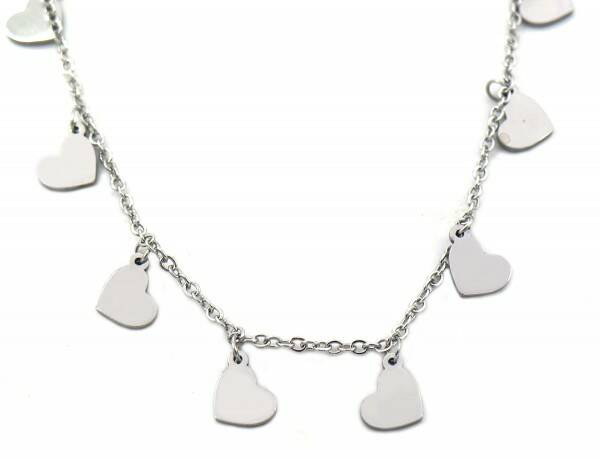 Ketting Hearts 5 mm - zilver