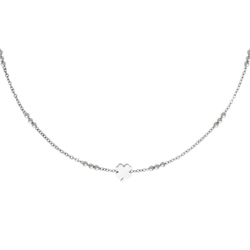 Ketting Four multi chain & four clover - zilver
