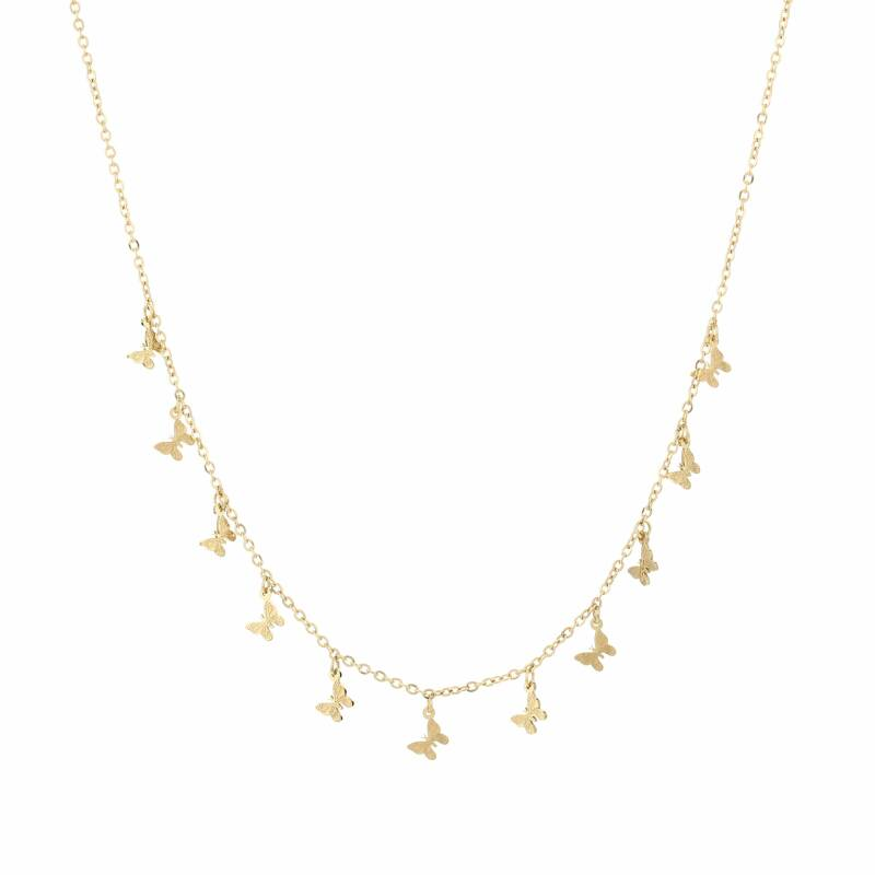 Ketting Floating butterfly - goud
