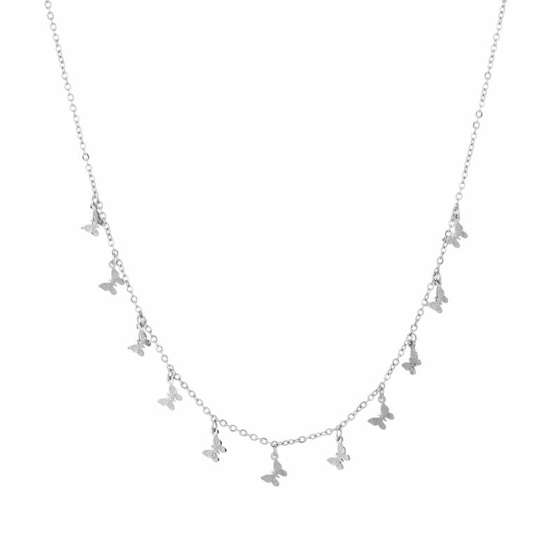 Ketting Floating butterfly - zilver