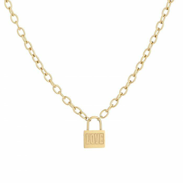 Ketting Love lock - goud