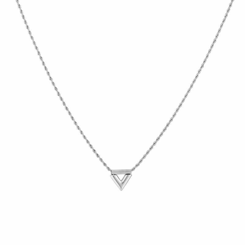 Ketting Twisted V - zilver