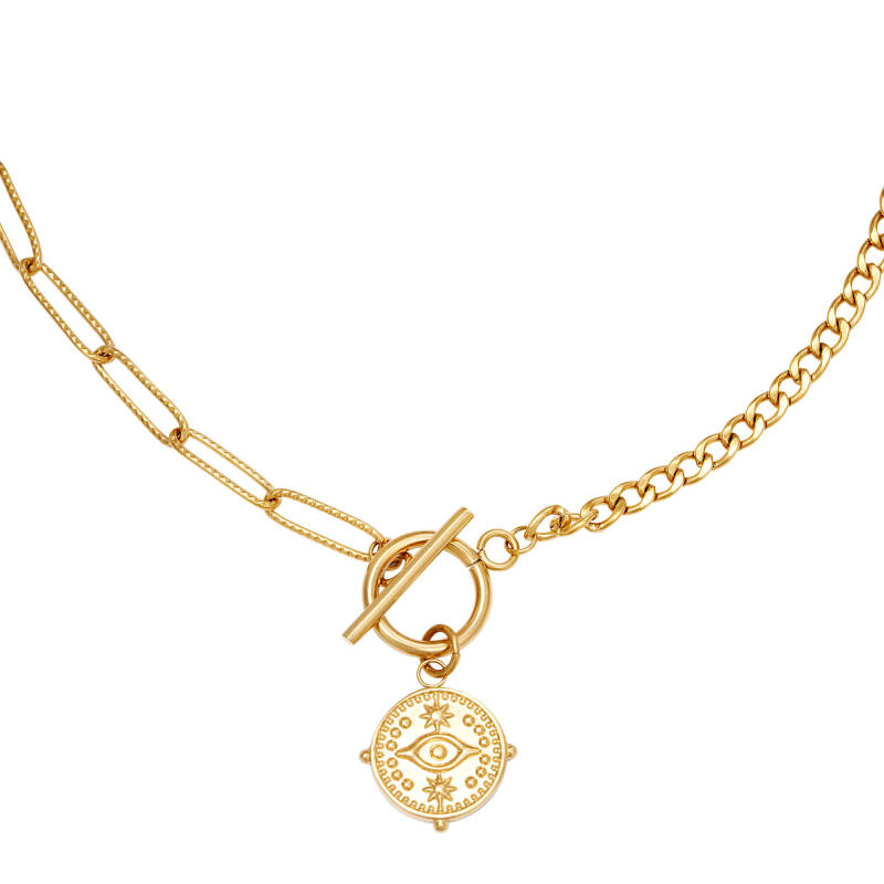 Ketting Locked eye - goud