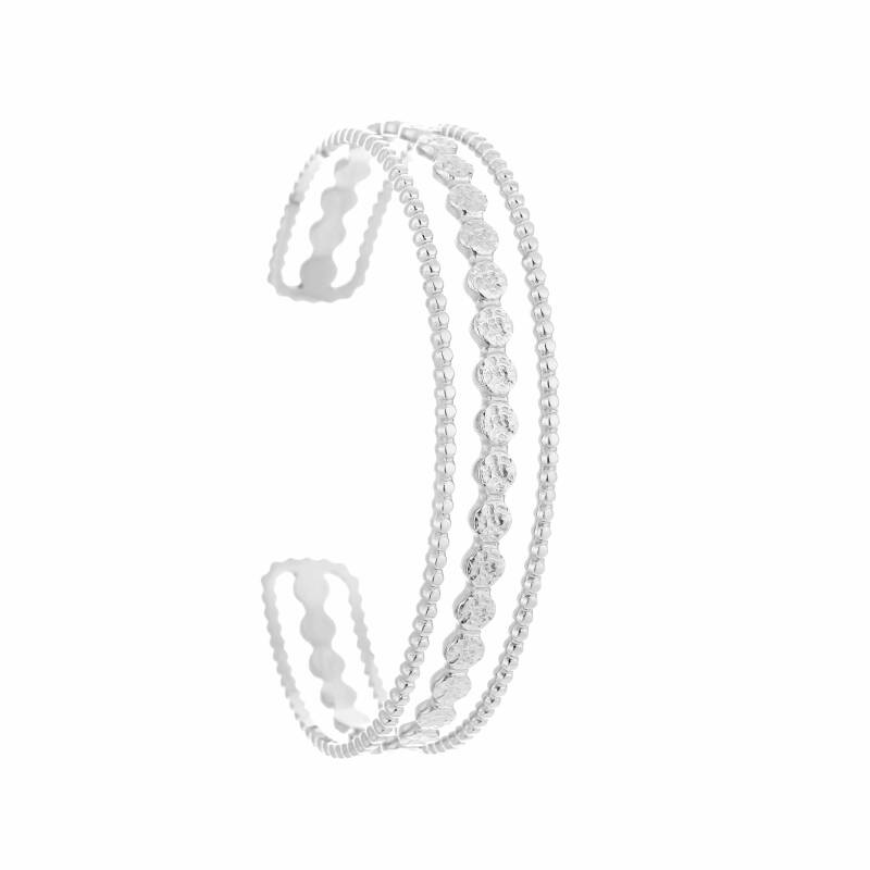 Bangle Open pattern - zilver