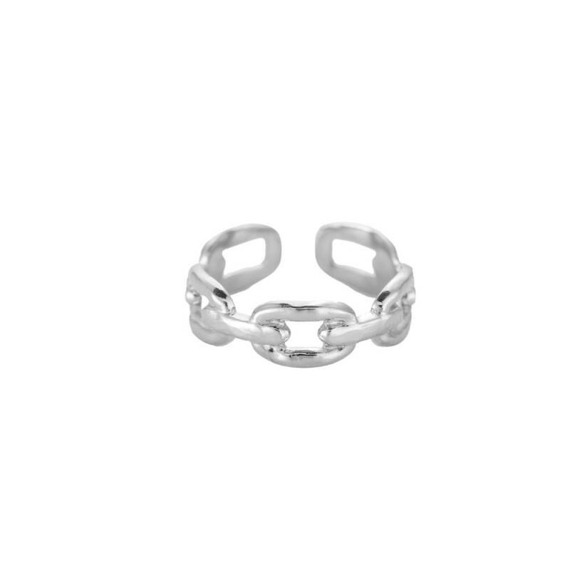 Ring Arching chain - zilver