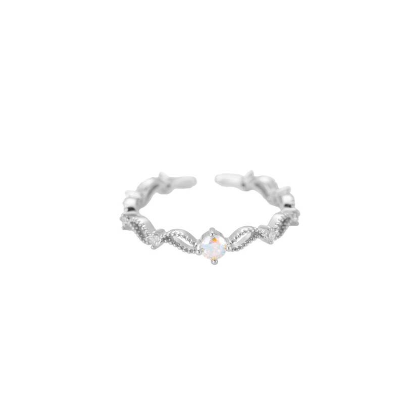 Ring Charming curve - zilver