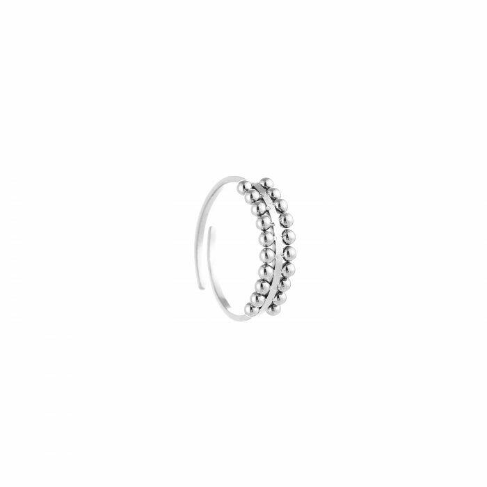 Ring Dots - zilver