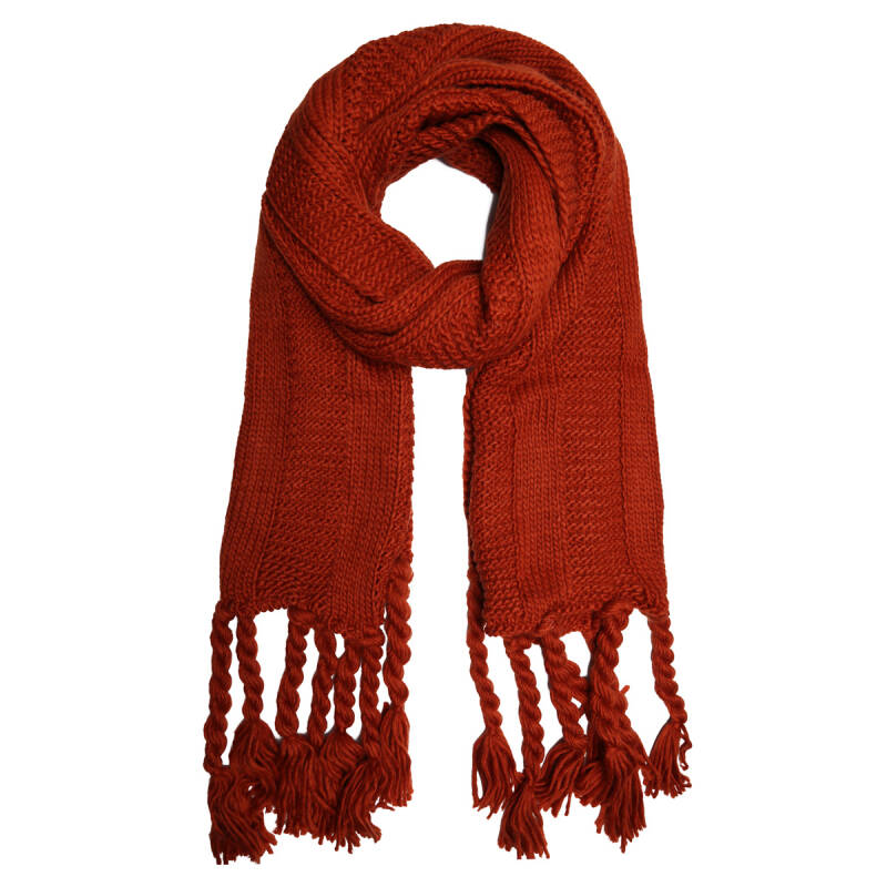 Sjaal Knitted - rood