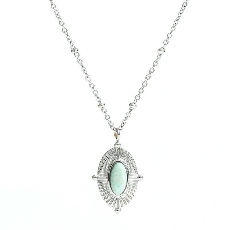 Ketting Blue stone - zilver