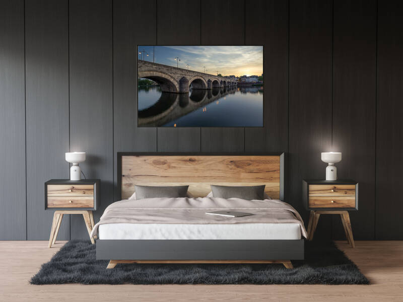 Maastrich Oude Brug Canvas - Maastricht SUNSET 2020